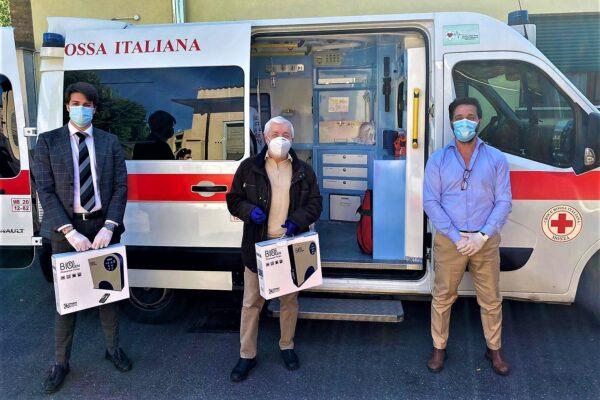 Consegnati alla CRI Monza due sanificatori