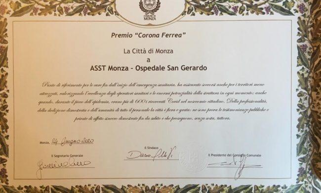 Ospedale San Gerardo premiato con la Corona Ferrea